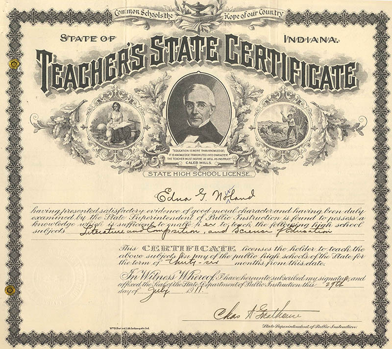 Indiana Genealogical Society Blog Research Tip Indiana Teacher