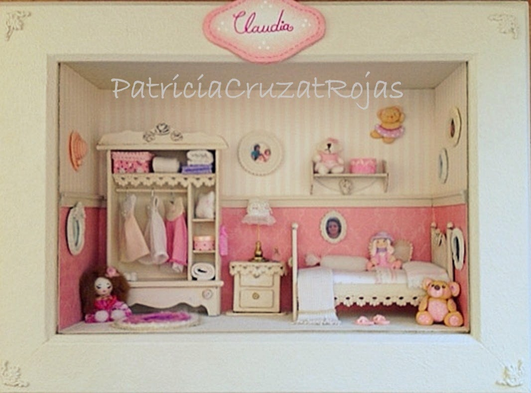 Patricia cruzat artesania y color dormitorio de ni a en - Cuadros para habitaciones de ninas ...