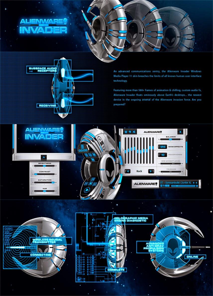 Alienware Invader Media Player Theme Mithilesh Joshi
