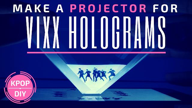 KooriStyle, Koori Style, Hologram, Projector, KPOP DIY, DIY, KPOP, Hologram Projector, How to, VIXX hologram, how to watch VIXX holograms, KPOP holograms, do it yourself, hologramas kpop, hologramas, projector hologramas, como ver hologramas de VIXX, easy, cheap, afordable, sencillo, CD case