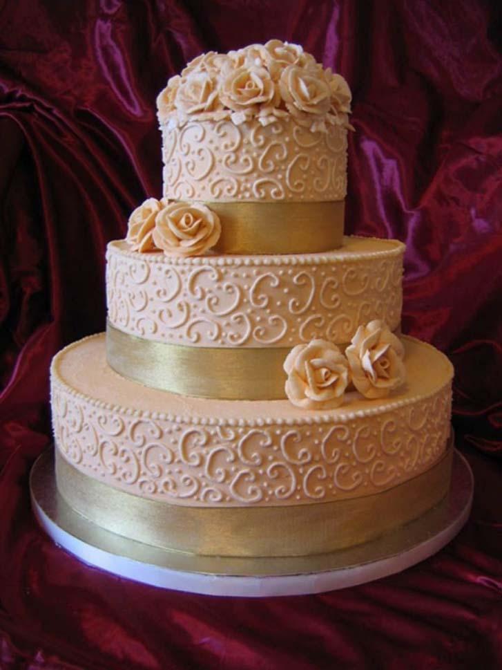 3 Tier Wedding Cakes 78 Vintage Buttercream Wedding Cake With