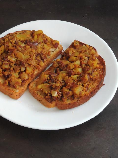 Vegan Rajma &Potato Toast