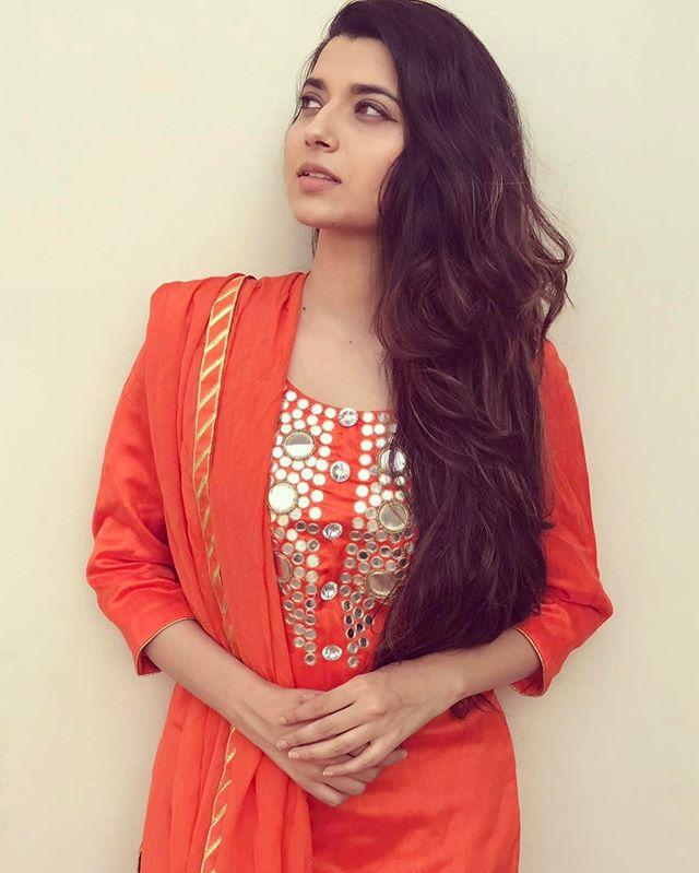 Punjabi Singer Nimrat Khaira Orange Suit Photos  Englandiya-4864