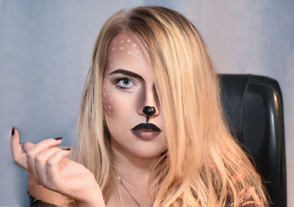 Makijaż sarenka. Makijaż artystyczny sarna. Sarenka make up.