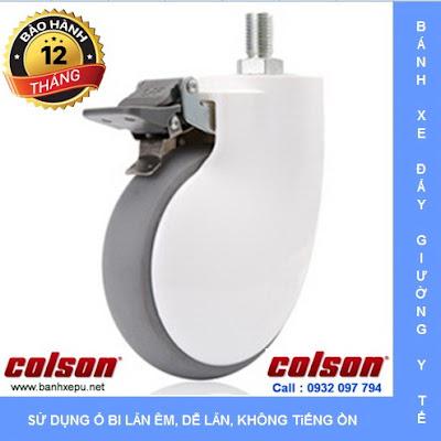 Bánh xe đẩy giường bệnh Colson Mỹ phi 125 xoay khóa| BN-5654-465BRK4 www.banhxedayhang.net