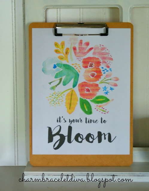 Well Made Heart It's Your Time to Bloom free printable
