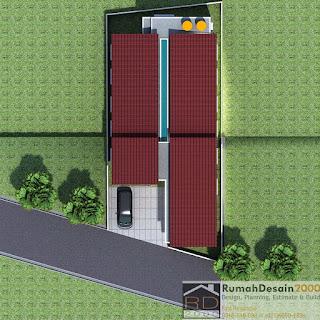 3D PLAN Desain Rumah kost minimalis modern 2 lantai