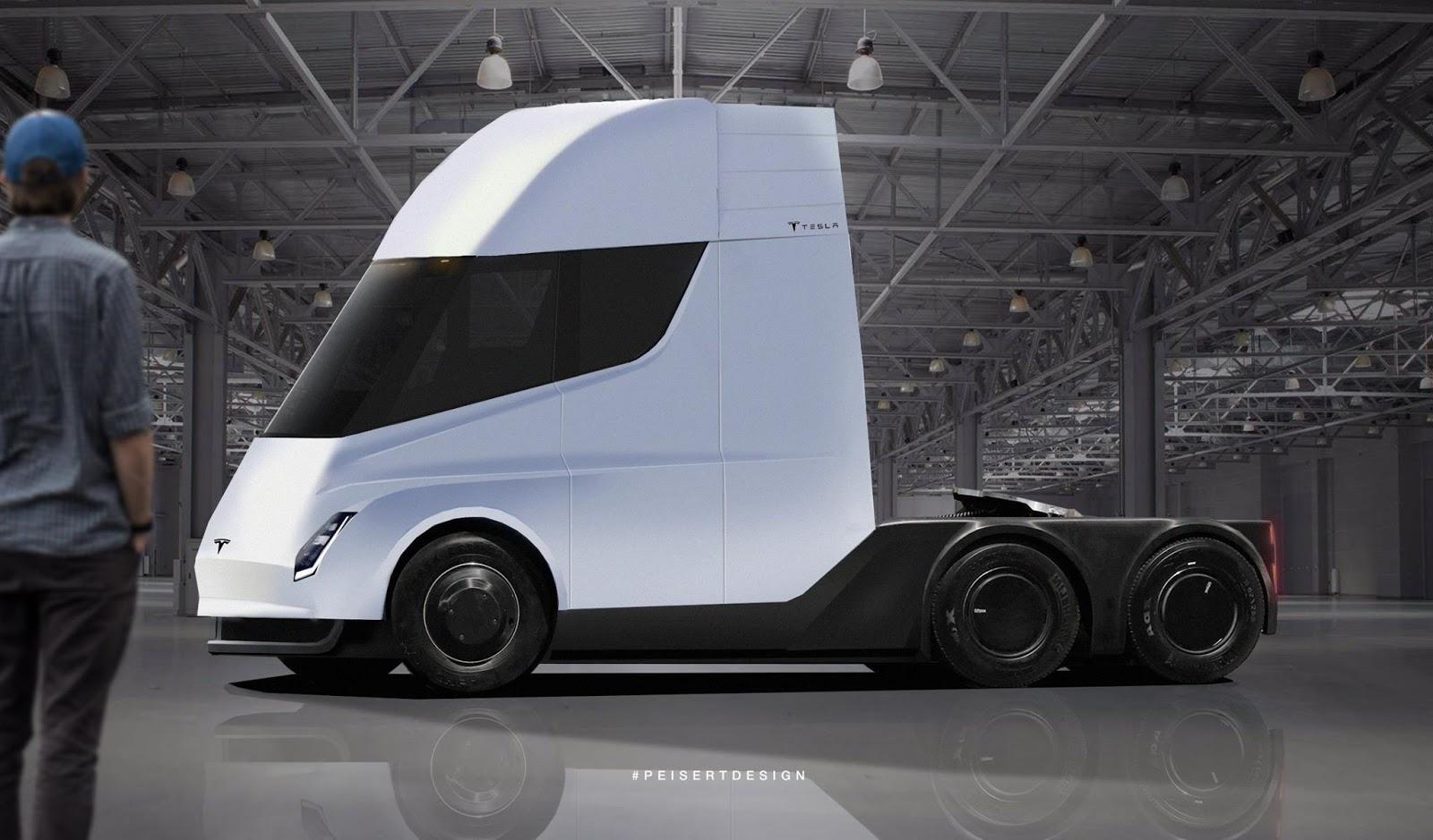 Как может выглядеть грузовик Tesla
