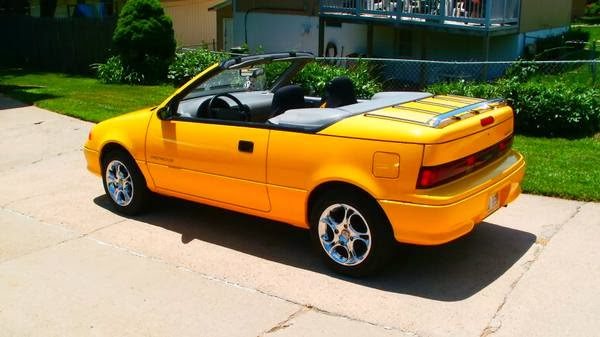 daily turismo 5k jelly bean 1992 geo metro lsi convertible low miles. Black Bedroom Furniture Sets. Home Design Ideas