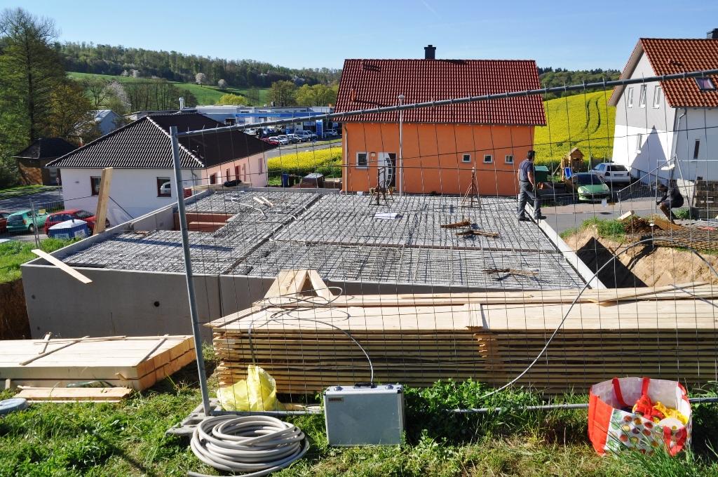 Massivhaus Rhein Lahn wir bauen ein haus am mühlberg tag 12 bewehrung der kellerdecke