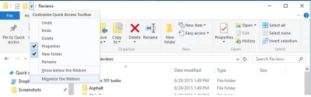 ribbon tab interface help in windows 8