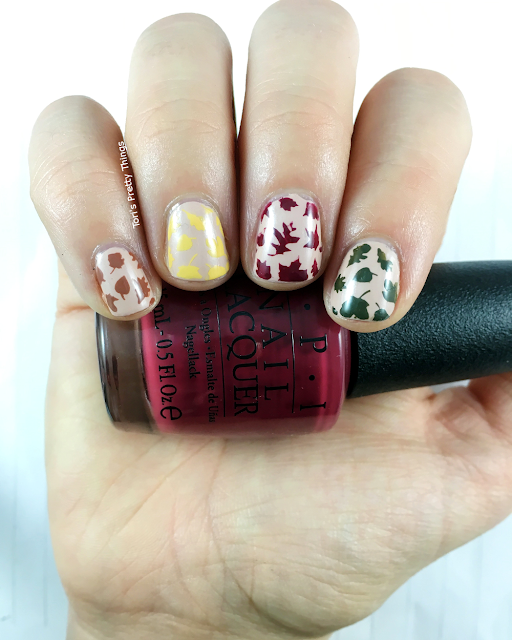 Tori's Pretty Things// OPI We The Female Fall Leaves Nail Art