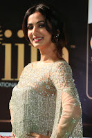 Sonal Chauhan in a stonework Floor Length Silver Designer Gown at IIFA Utsavam Awards March 2017 037.JPG