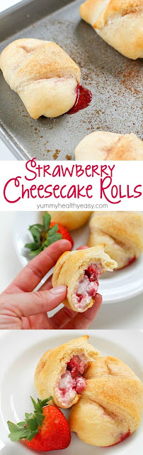 Easy Strawberry Cheesecake Roll