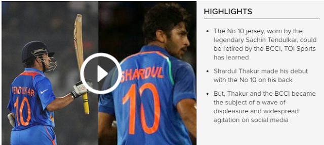 BCCI to retire Sachin Tendulkar No 10 India blue jersey?