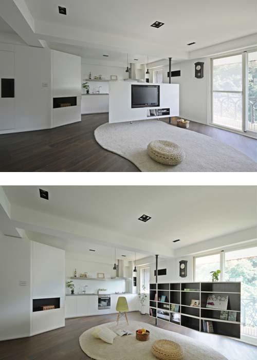 Le partizioni rotanti arredamento facile - Dividere soggiorno e cucina ...