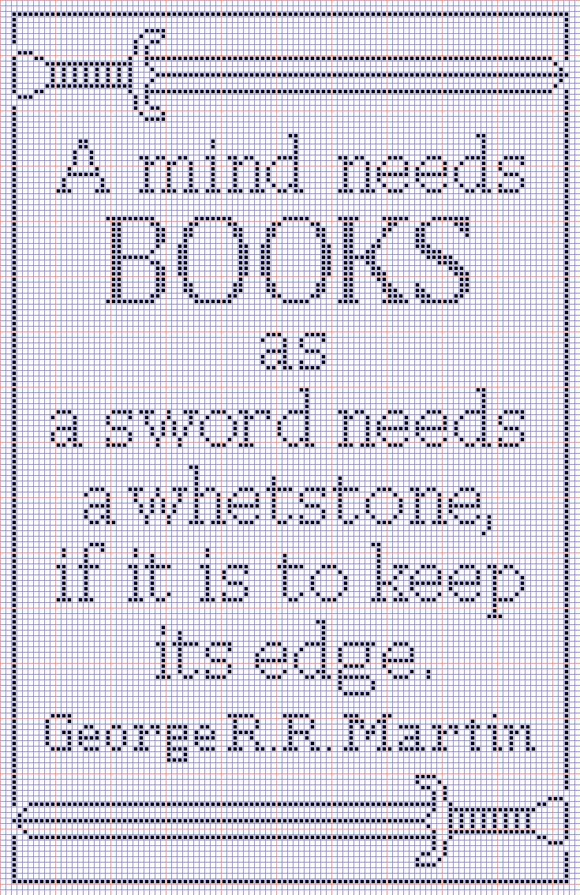 A mind needs books- Game of Thrones quote about reading to cross stitch