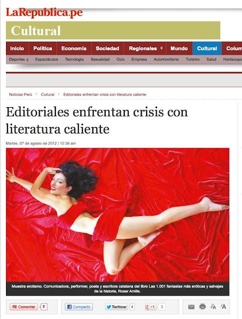 Perú   Editoriales enfrentan crisis con literatura caliente y fantasías eróticas