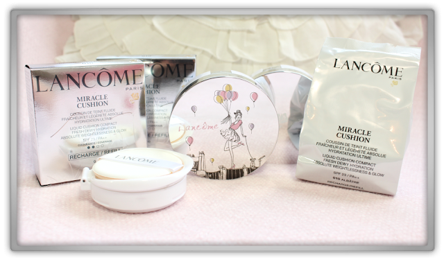 Lancome Miracle Cushion 010 albatre Foundation Korean beauty blog Haul Review feelunique