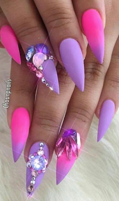 Ombre Pink Toenails Light