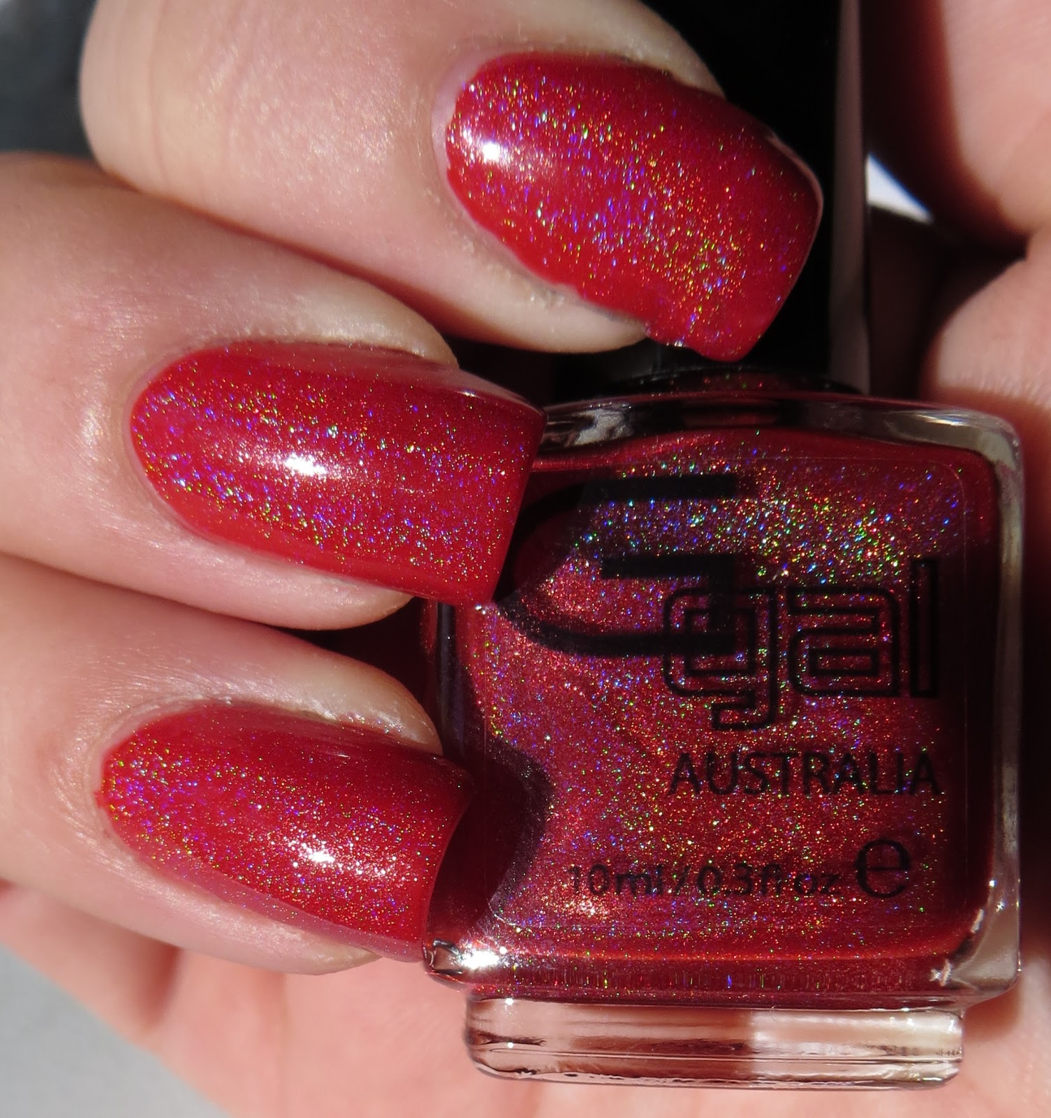Spectrum Holographic Nail Polish: Bright Red Holographic