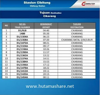 jadwal commuter line stasiun cibitung tujuan cikarang