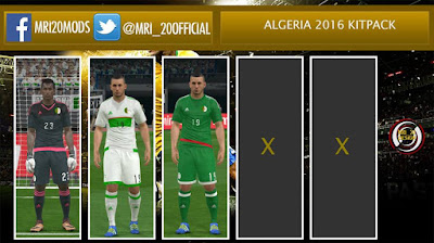 PES 2016 Algeria 2016 Full Kitpack by MRI_20Mods