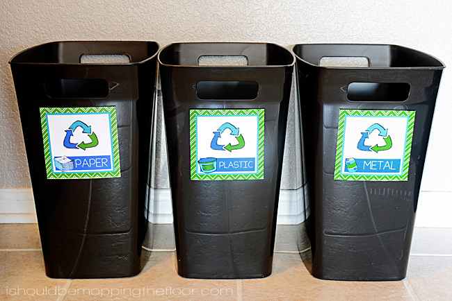 picture regarding Recycle Labels Printable referred to as Cost-free Printable Recycling Bin Labels i really should be mopping