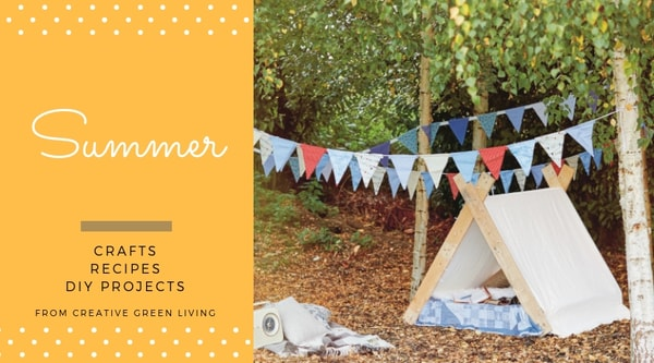 Summer  crafts, recipes, DIY projects from Creative Green Living - DIY pallet tent