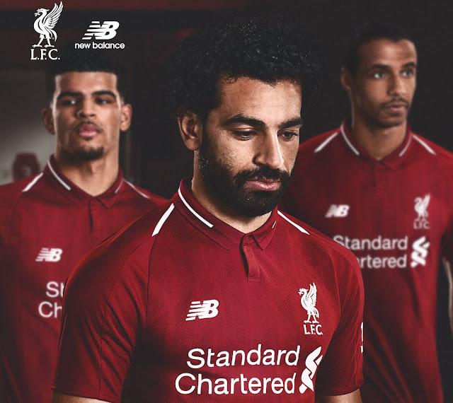 طقم ليفربول للموسم الجديد 2018 محمد صلاح يظهر في ترويج أطقم ليفربول الجديدة 2018