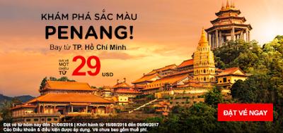 bán vé máy bay khuyến mãi Air Asia bay thả ga đi Penang