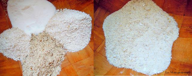 Le mélange des différentes poudres - Les Mousquetettes©