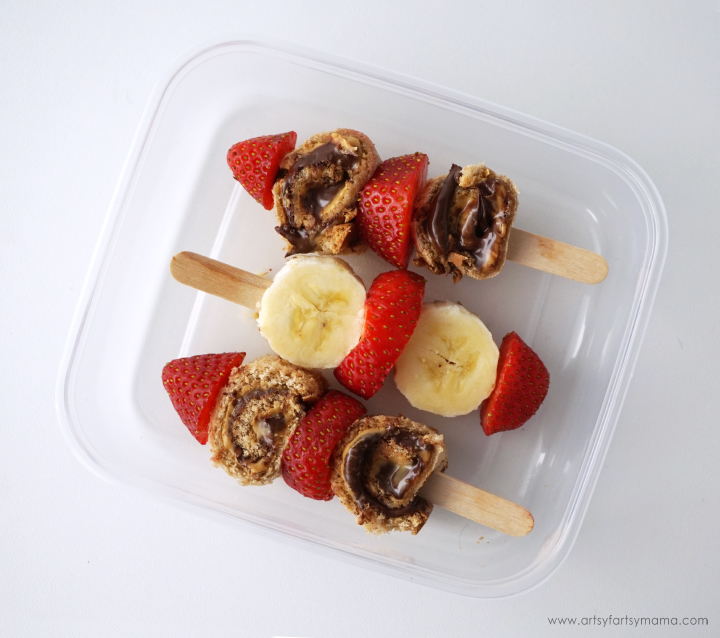 PB Hazelnut Roll-Up Kabobs is a fun lunch for kids to enjoy with Peanut Butter & Co. Peanut Butter!