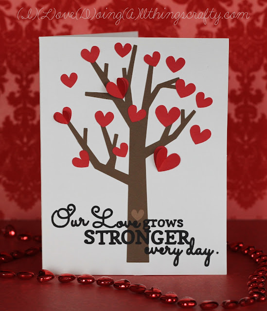 Love Grows Tree Card | Silhouette File Card