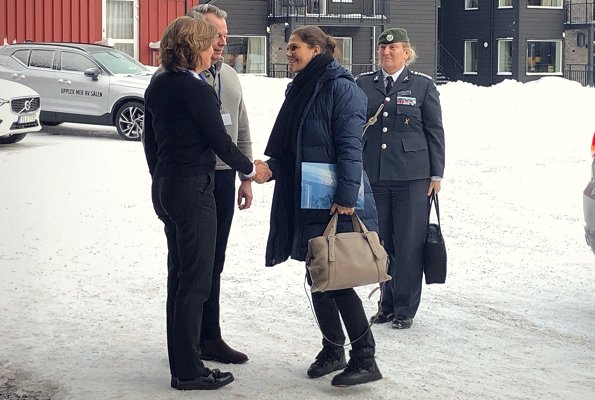 King Carl Gustaf and Crown Princess Victoria are attending Annual National Conference of Society and Defence at Högfjällshotell in Sälen