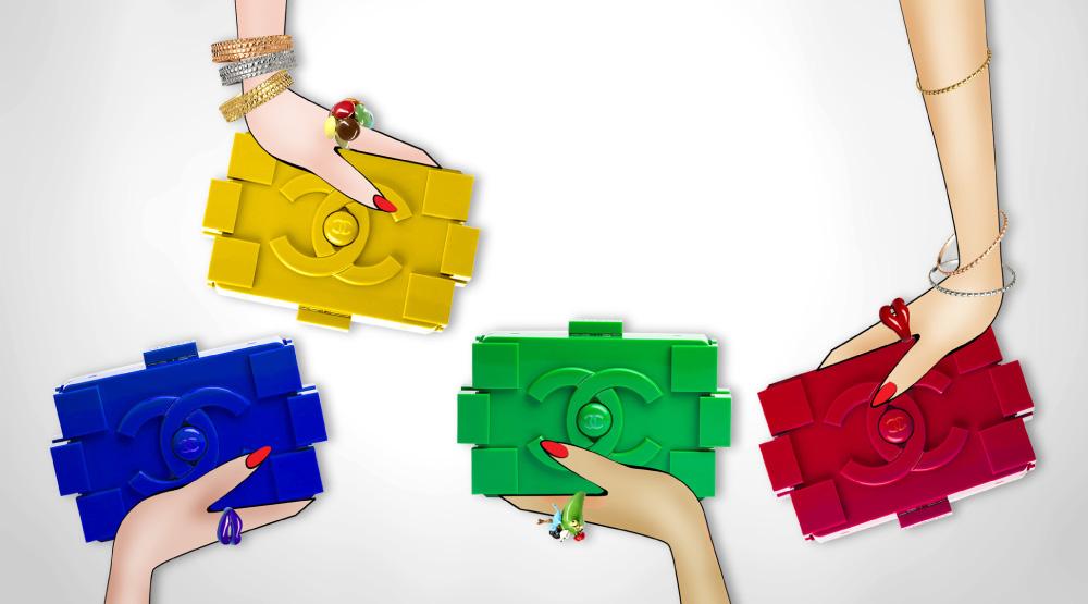 CHANEL LEGO CLUTCH NEW
