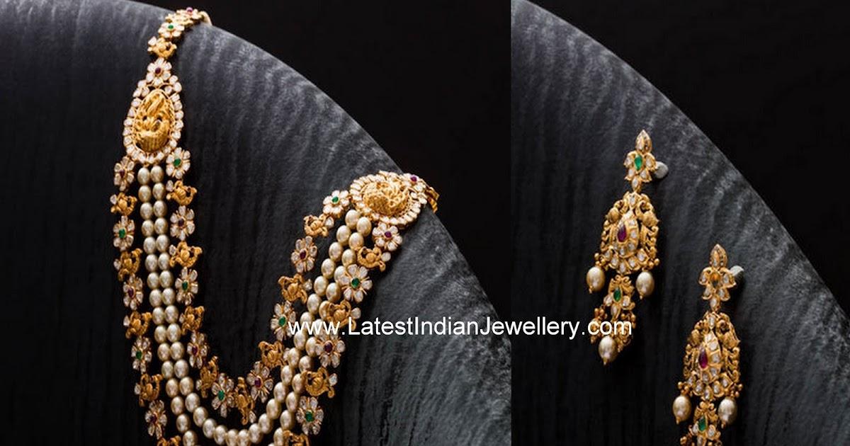 Pearls Pachi Work Layered Haram