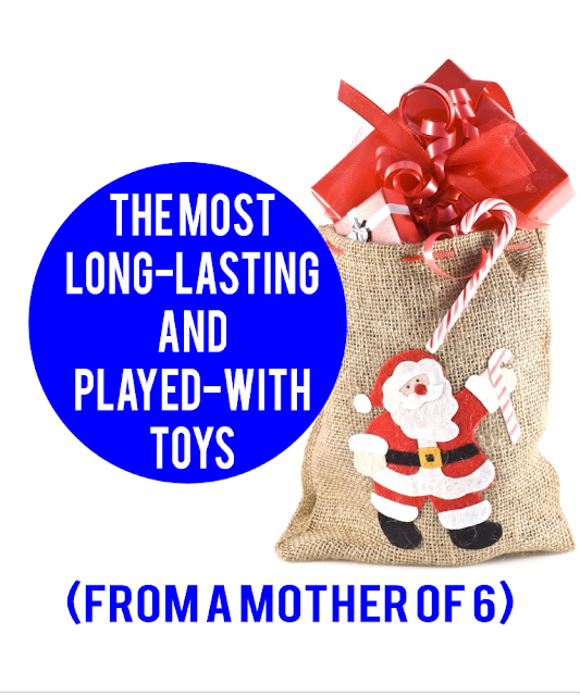 Test-driven by all 6 of my kids, here is a list of toys that have lasted a long time, appealed to multiple ages of kids, and I've never regretted buying.  {posted @ Unremarkable Files}