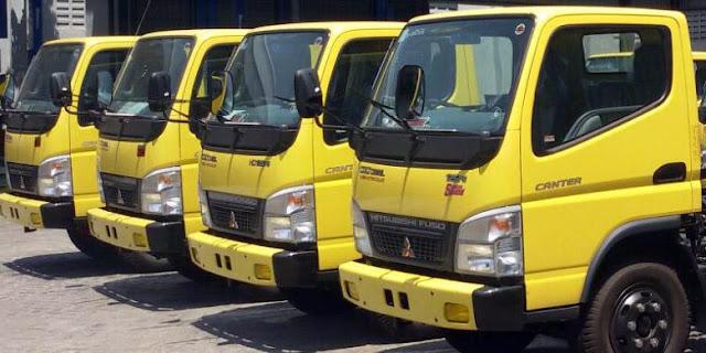 dump truck jumbo colt diesel 2019, dump truck mitsubishi canter 2019