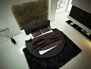 cuarto moderno cama redonda