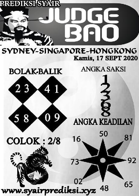 Kode syair Singapore Kamis 17 September 2020 108
