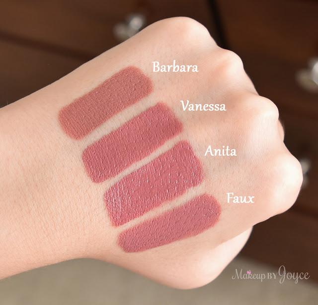 Nars Audacious Lipstick Vanessa Anita MAC Faux Dupe Swatches