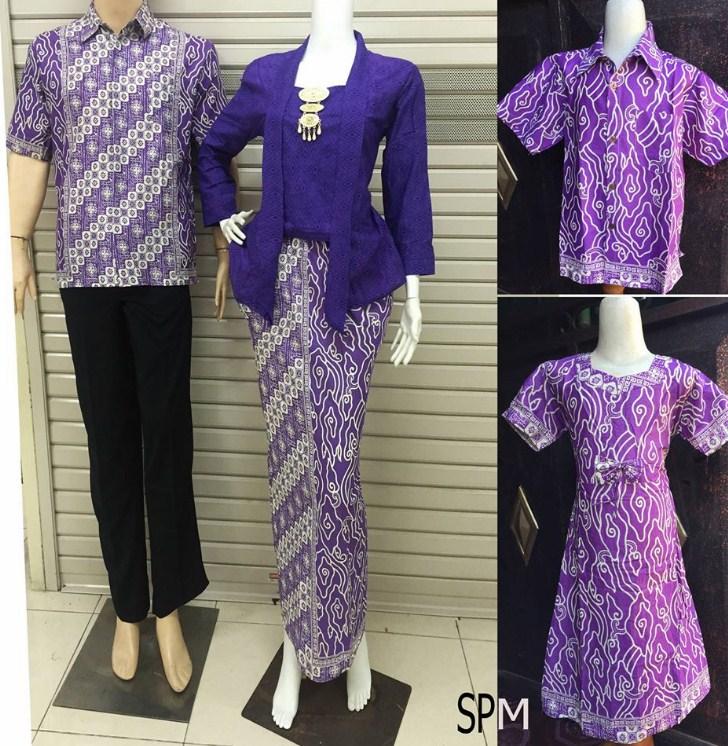 Baju Embos Kombinasi Batik: 32 Model Baju Batik Embos Muslim Couple Kombinasi Sarimbit