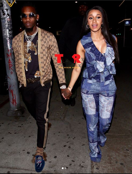 Cardi B and Offset all loved up on date night