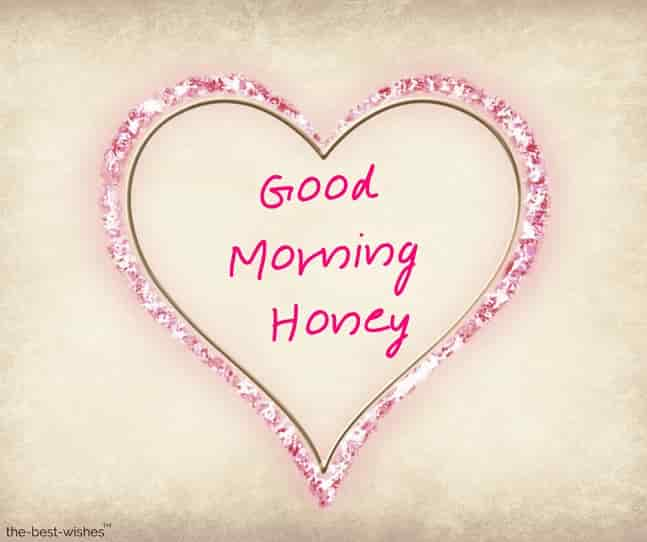 romantic heart good morning honey images