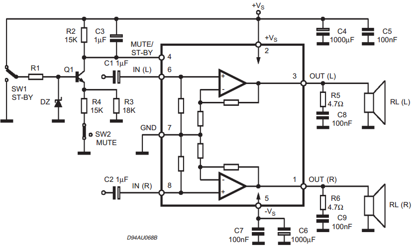 Wiring  U0026 Diagram Info  25 25w Stereo Amplifier With Mute St By