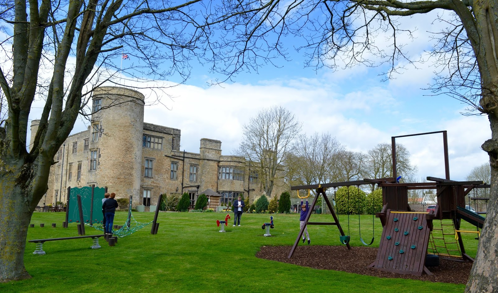 Sunday Lunch, Playgrounds & Birds of Prey at Walworth Castle, Darlington  - castle and park exterior