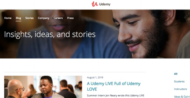 Blog Udemy