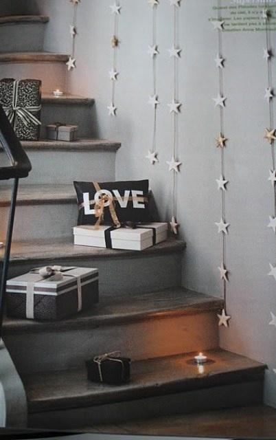 Decoracion DIY Navidad: Cojin LOVE velas luces