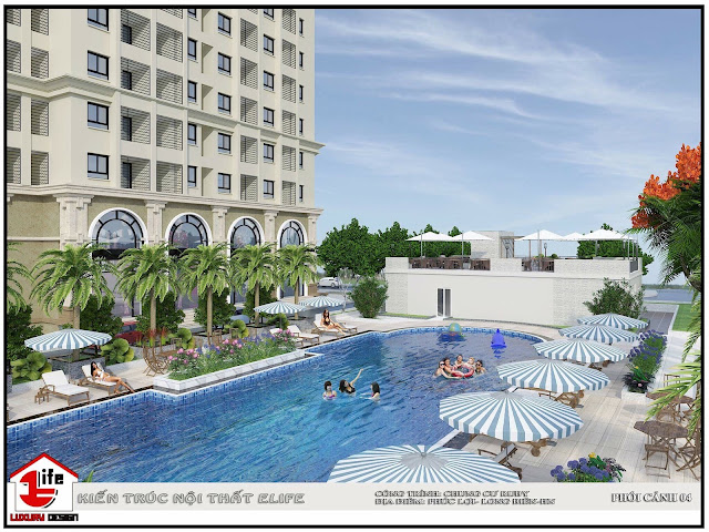 Bể bơi dự án Ruby City Ct3